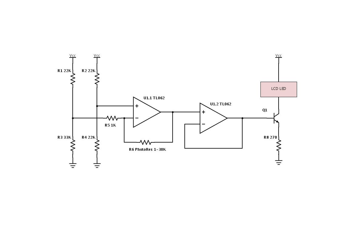 Автоматическая регулировка яркости lcd дисплея.